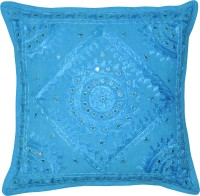 Lal Haveli Traditional Hand Embroidered Mirror Work Cotton Embroidered Cushions Cover (41*41)