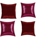 "SEJ By Nisha Gupta Rich Single Color Sequin 16"" By 16"" Cushion Cover. Cushions Cover - Pack Of 4 - CPCDYVZ5MKGX2WWG"