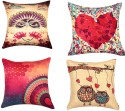 "SEJ By Nisha Gupta HD Digital Print Silk 16"" By 16"" Cushion Cover. Cushions Cover - Pack Of 4 - CPCDYVZ5FHBXGWYH"