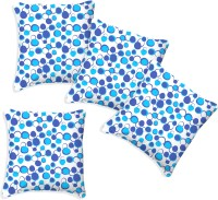 Smart Home Textile Polka Cushions Cover (Pack Of 4, 51 Cm*51 Cm, Blue, White)