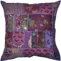 Lal Haveli Khambadia Patchwork Cotton 24x24 Inches Abstract Cushions Cover (Cushion Cover, 60.96 Cm*60.96 Cm)