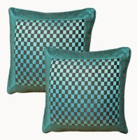 Dekor World Mixing Of Checks Collection Cushions Cover (Pack Of 2)