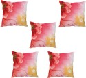 StyBuzz Red Floral Abstract Art Cushions Cover - Pack Of 5