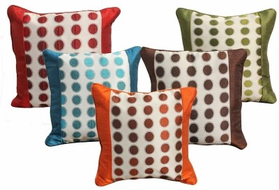 Dekor World Sober Circle and Border Cushions Cover Pack of 5