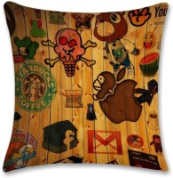 Shoprock Wooden Logos Abstract Cushions Cover (Cushion Pillow Cover, 40.64*40.64)