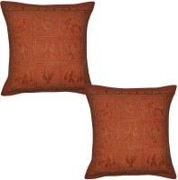 Lal Haveli Embroidered Cushions Cover (Pack Of 2, 41 Cm*41 Cm, Red) - CPCE8BZ9ZGZTGZ5P