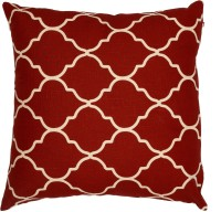 Adt Saral Bloom Printed Cushions Cover (Red, White)