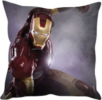 StyBuzz Iron Man (12x12) Cushions Cover (Pack Of 1)