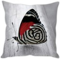 StyBuzz Grey Butterfly (12x12) Cushions Cover - Pack Of 1