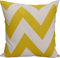 Akshat International Geometric Cushions Cover (Pack Of 5, Yellow)