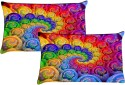 MeSleep Shades Of Abstract Ball Pillows Cover - Pack Of 2