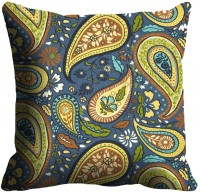 MeSleep Green Paisely Cushions Cover (Pack Of 1)