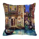 MeSleep Boats City Digitally Printed Cushions Cover - Pack Of 1
