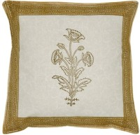 Lal Haveli Rajasthani Flower Design Block 16x16 Inches Printed Cushions Cover (Pack Of 2, 41 Cm*41 Cm, Orange)