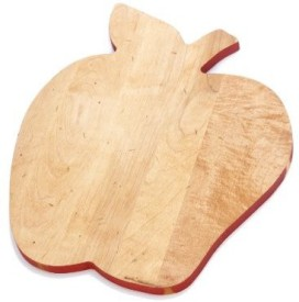 J.K. Adams Solid Maple Wood FruitShaped Cutting Board