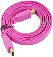 Microware HDMI Male To HDMI Male 1.4 V Flat Color 1.5 Meter HDMI Cable (Pink)