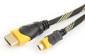 Speed Hdmi Male To Hdmi Male Micro Cable Nylon Mesh Data_cable - Black