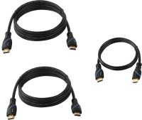 C&E Buy 2 10-Feet HDMI Cable & Get Free 1.5-Feet HDMI Cable HDMI Cable (Black)