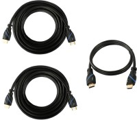 C&E Buy 2 15 Feet High Speed HDMI Cable & Get 1.5 Feet HDMI Cable HDMI Cable (Black)