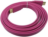 Speed HDMI Male To HDMI Male 1.4 V Flat Data_cable (Pink)