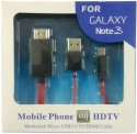 DMG HDMI Adapter Cable for Samsung Galaxy Note 2 N7100 / Note 3 N9000 data_cable - Red