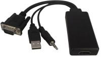 Microware VGA Male To HDMI Female With Sound Data_cable (Black)