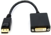 Microware Display Port Male To DVI Female HDMI Cable (Black)