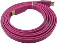 Microware HDMI Male To HDMI Male 1.4 V Flat Color 1.5 Meter Data_cable (Pink)