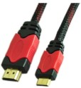 EGizmos Hdmi Male To Hdmi Male Mini Cable Nylon Mesh Data_cable - Black