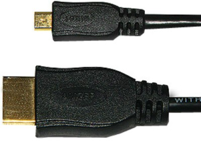 Buy Amzer 88366 Micro HDMI High Speed Male to HDMI Male Cable 1ft: Data Cable