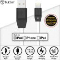 Tukzer [Apple MFI Certified Licensed] 8 Pin Lightning To USB 2.4A Lightning Cable (White)