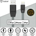 Tukzer [Apple MFI Certified Licensed] 8 Pin Lightning To USB 2.4A Lightning Cable (Grey)