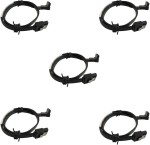 Storite 5 Pack SATA 3 cable with Locking Latch straight to Right Angle 90 Degree Black