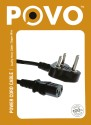 POVO PC (T) 3Mtr Power Sharing Cable (Black)