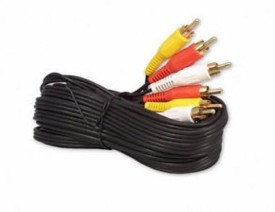 Tuscan Audio Video Cable / Useful 3 RCA Male to 3 RCA Male Cable Heavy Duty 10 Meters RCA Audio Video Cable