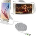 Xtra Multi-Function Holder Micro High Speed USB 2.1 Data Transmit Cable For Android Devices USB Cable (White)