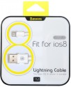 Baseus 1M USB 2.0 Lightning Data & Charging Cable For IPhone USB Cable (White)