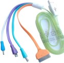 Jeetcon Usb 2.0 Colouring Multi Charger For Samsung/Nokia/Iphone - 1 Mtr USB Cable (White, Purple, Bule, Orange)