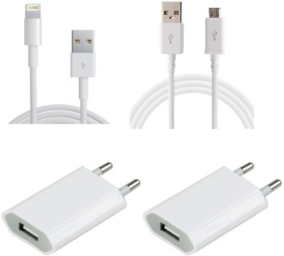 Techone+ All Android Mobile - 1 Nos+iphone 5s-6-6plus cable-1 + 2 Power Adeptor USB Cable
