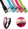 SANGAITAP Wrist Band USB To Micro USB Data Charging Cable For All Mobile Type USB Cable (Multicolor)