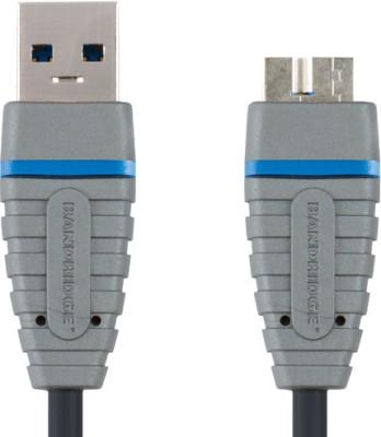 Bandridge BCL5902 Blue USB 3.0 A Micro B Cable 2.0 m