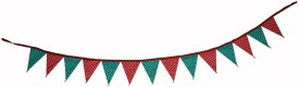 creative textiles Multi Party Decoration Bunting - 1