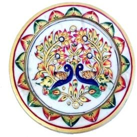Chitrahandicraft Marble Myure Plate Stoneware Decorative Platter