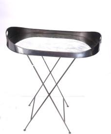 Goyal India Stand Iron, Glass Decorative Platter