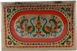 Shreeng Handicraft 12x8 Golden Meena Dry Fruit/ Multipurpose Box