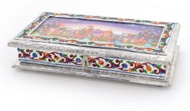 Tradition India Decorative White Metal Partitions Dryfruit Box Cast Iron Decorative Platter