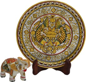 eCraftIndia Stoneware Decorative Platter