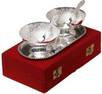 Being Nawab Silver Bowl Set Pack Of 5 Dinner Set (Brass)