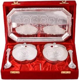 RajLaxmi Silver Plated Decorative Platter