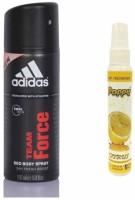 Adidas Adidas Team Force Deo + Poppy Spray Freshener Citrus Free Deodorant Spray  -  For Boys, Girls, Men, Women (150 Ml)